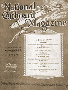 National Outboard Magazine, November 1929