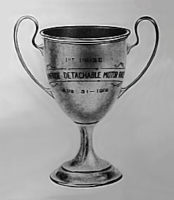 Evinrude Detachable Motor Race Trophy, 1912